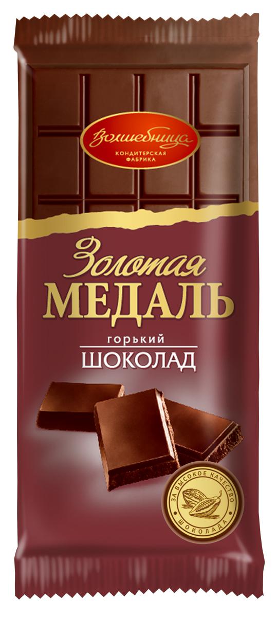 Волшебница Золотая медаль шоколад горький, 100 г