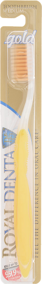 Royal Denta Зубная щетка Gold с наночастицами золотаMP59.3DGOLD Medium – зубная щетка средней жесткости с наночастицами золота