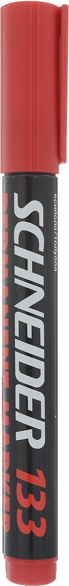 Schneider Маркер перманентный 133 цвет красный643/4Заправляемый маркер Schneider для бумаги, картона, стекла, металла. Скошенный наконечник устойчив к повреждению и истиранию.Маркер имеет яркие и стойкие чернила красного цвета.Ширина линии 1-4 мм.