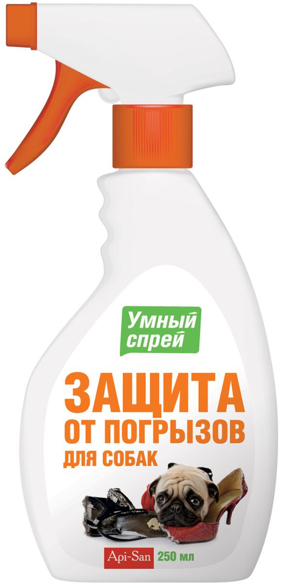 Защита от погрызов Апи-Сан Умный спрей, для собак , 250 мл101246Состав в 1 мл: экстракт перца красного жгучего - 0,2 мг, эфирное масло апельсина 5 мг, синтанол - 15 мг, кремофор- 5 мг, спирт изопропиловый- 200 мг и вода очищенная до 1 мл. Свойства: действие зоогигиенического средства основано на способности олеорезина раздражать определённые рецепторы языка, вызывая чувство жжения, отпугивая собак и кошек, что позволяет выработать у животных условный рефлекс, предотвращающий разгрызание и царапание предметов.Зоогигиеническое средство используют для защиты различных поверхностей от разгрызания и царапания животными.Применение: перед применением привести головку куркового распылителя в активное состояние и нанести раствор с расстояния 20-30 см на поверхности, вызывающие предполагаемый или постоянный интерес животного. Для того, чтобы отвлечь животное от повреждаемых им предметов, необходимо давать ему специальные предметы, которые можно царапать и грызть.Повторять обработку мест, не предназначенных для царапания и погрызов, следует по мере необходимости, желательно еженедельно. После контакта с обработанными поверхностями у животных может начаться слюнотечение, что является защитной реакцией организма на горечь, не является патологией, проходит самостоятельно в течение 15-20 минут. При необходимости, действие горечи, входящей в состав средства, нейтрализуется молоком.Хранение: хранить в защищенном от света месте, отдельно от пищевых продуктов и кормов, при температуре от 0°С до 25°С.Срок годности при соблюдении условий хранения - 2 года со дня производства. По истечении срока годности зоогигиеническое средство не должно применяться.