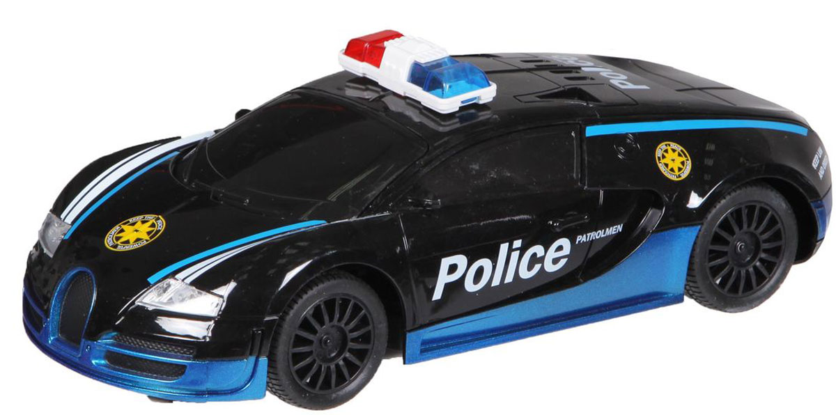 """Машина на радиоуправлении """"Yako"""" со световыми эффектами изготовлена из качественных и безопасных материалов и представлена в виде полицейского автомобиля.Управление происходит при помощи пульта дистанционного управления, работающего на частоте 27МГц. Машинка может двигаться вперед-назад и поворачивать налево-направо.Радиоуправляемые игрушки способствуют развитию координации движений, моторики и ловкости. Подарите вашему ребенку возможность почувствовать себя настоящим водителем.Для работы машинки необходимо купить 4 батарейки напряжением 1,5V типа АА (не входят в комплект). Для работы пульта управления необходимо купить 2 батарейки напряжением 1,5V типа АА (не входят в комплект)."""
