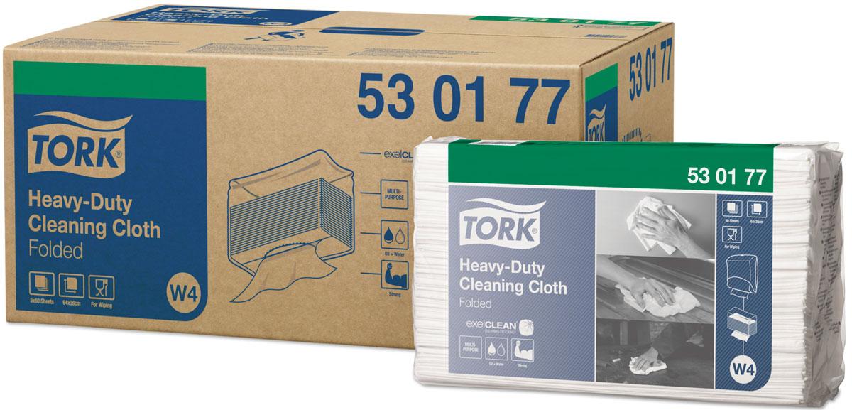 Нетканый материал  Tork  повышенной прочности, в салфетках, 60 листов, коробка 6 шт - Туалетная бумага, салфетки
