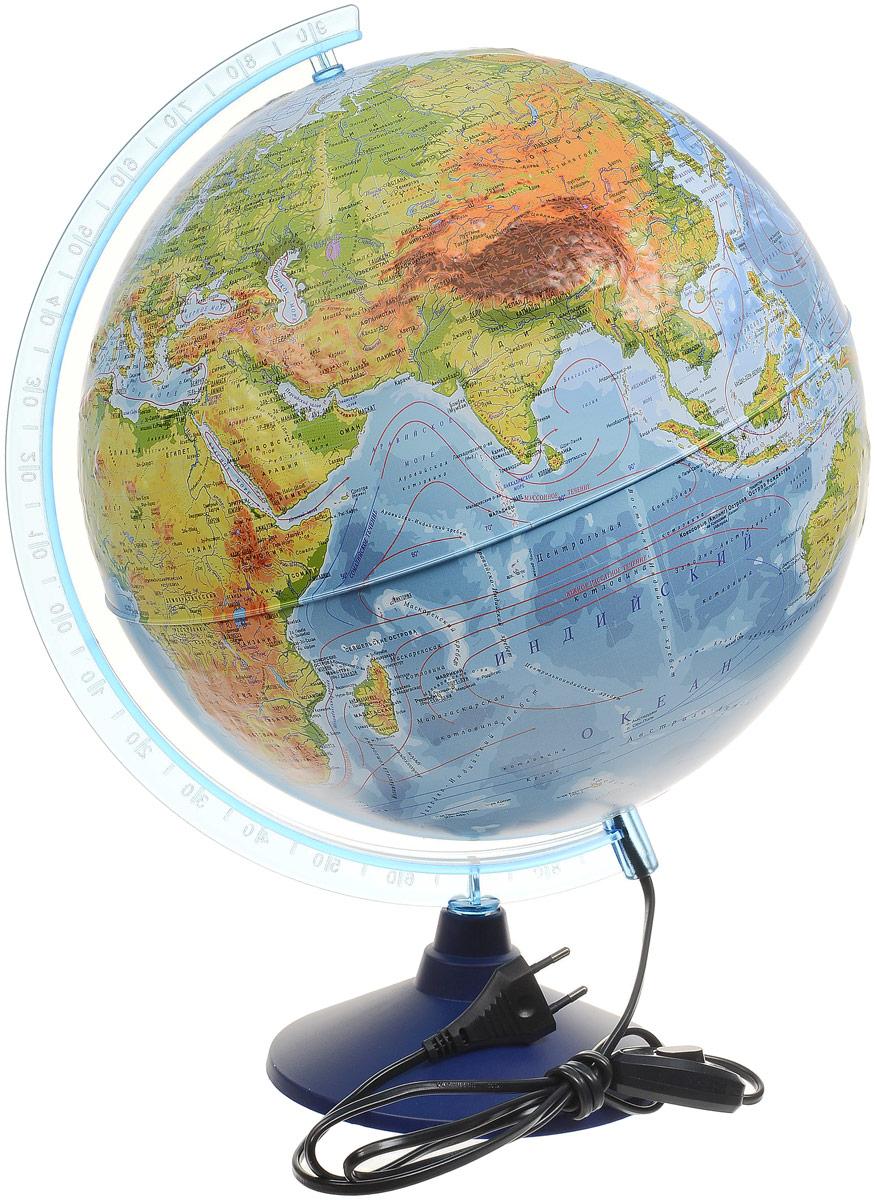 Globen Глобус Земли физико-политический Рельефный с подсветкой диаметр 32 смFS-00897Глобус Земли Globen с физико-политической картой мира выполнен в высоком качестве, с четким и ярким изображением.Глобус даст представление о физико-политическом устройстве мира. На нем отображены столицы государств, центры владений и территорий с особым статусом, государственные границы и другая информация. Рельеф на глобусе демонстрирует наличие гор и возвышенностей.Глобус легко вращается вокруг своей оси, снабжен пластиковым меридианом с градусными отметками. Подставка изготовлена из пластика.Глобус имеет функцию подсветки от электрической сети. На кабеле питания имеется переключатель.Надписи на глобусе выполнены на русском языке.Масштаб: 1/40000000.