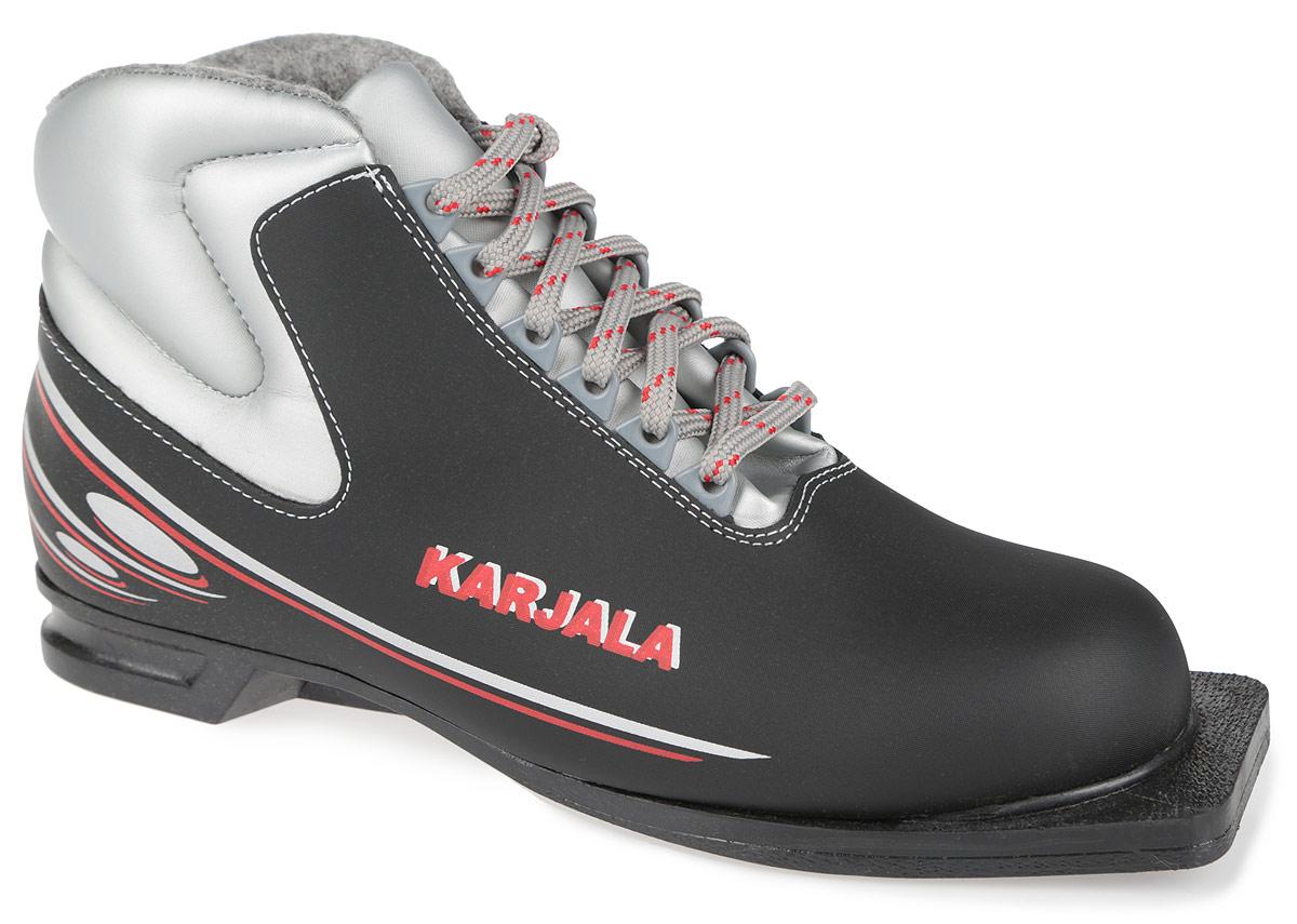 Ботинки лыжные Karjala, цвет: черный. Country 75 мм Black. Размер 40