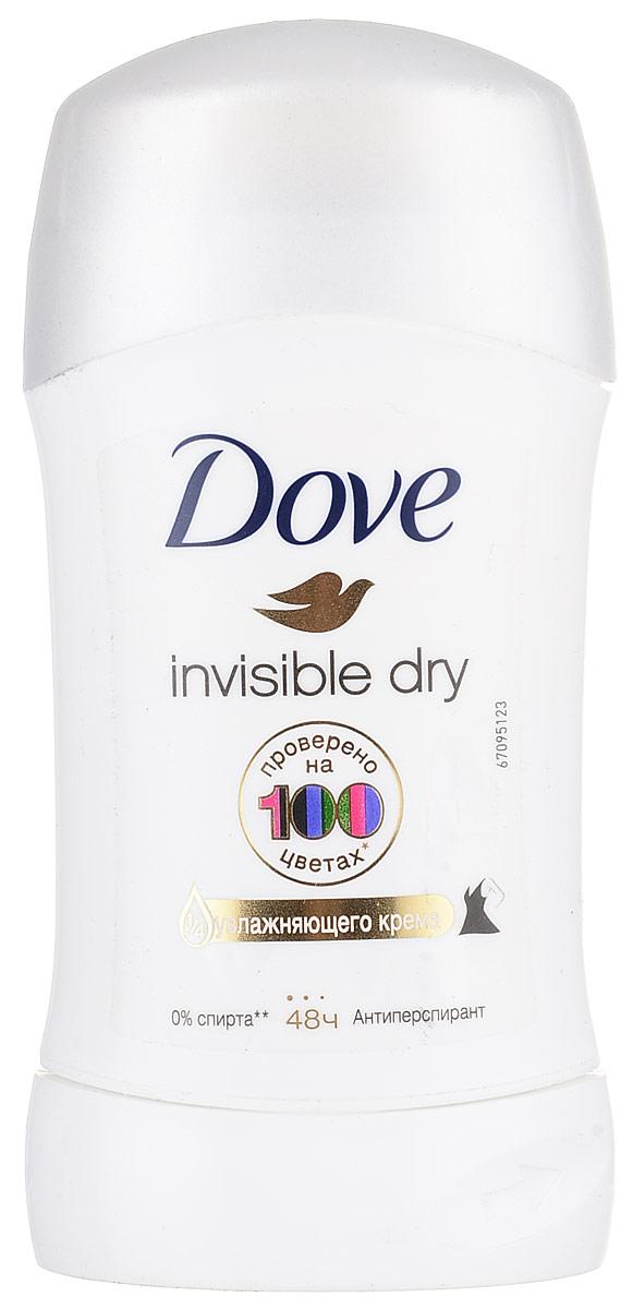 Dove Антиперспирант карандаш Невидимый 40 мл21132385Антиперсипрант Dove Невидимый - обеспечивает защиту от пота на 48 часов и на 1/4 состоит из особенного увлажняющего крема, который способствует восстановлению кожи после бритья, делая ее более гладкой и нежной- благодаря рецептуре с полупрозрачными микрочастицами способствует защите от белых следов Характеристики: Объем: 40 мл. Производитель: Германия. Товар сертифицирован.