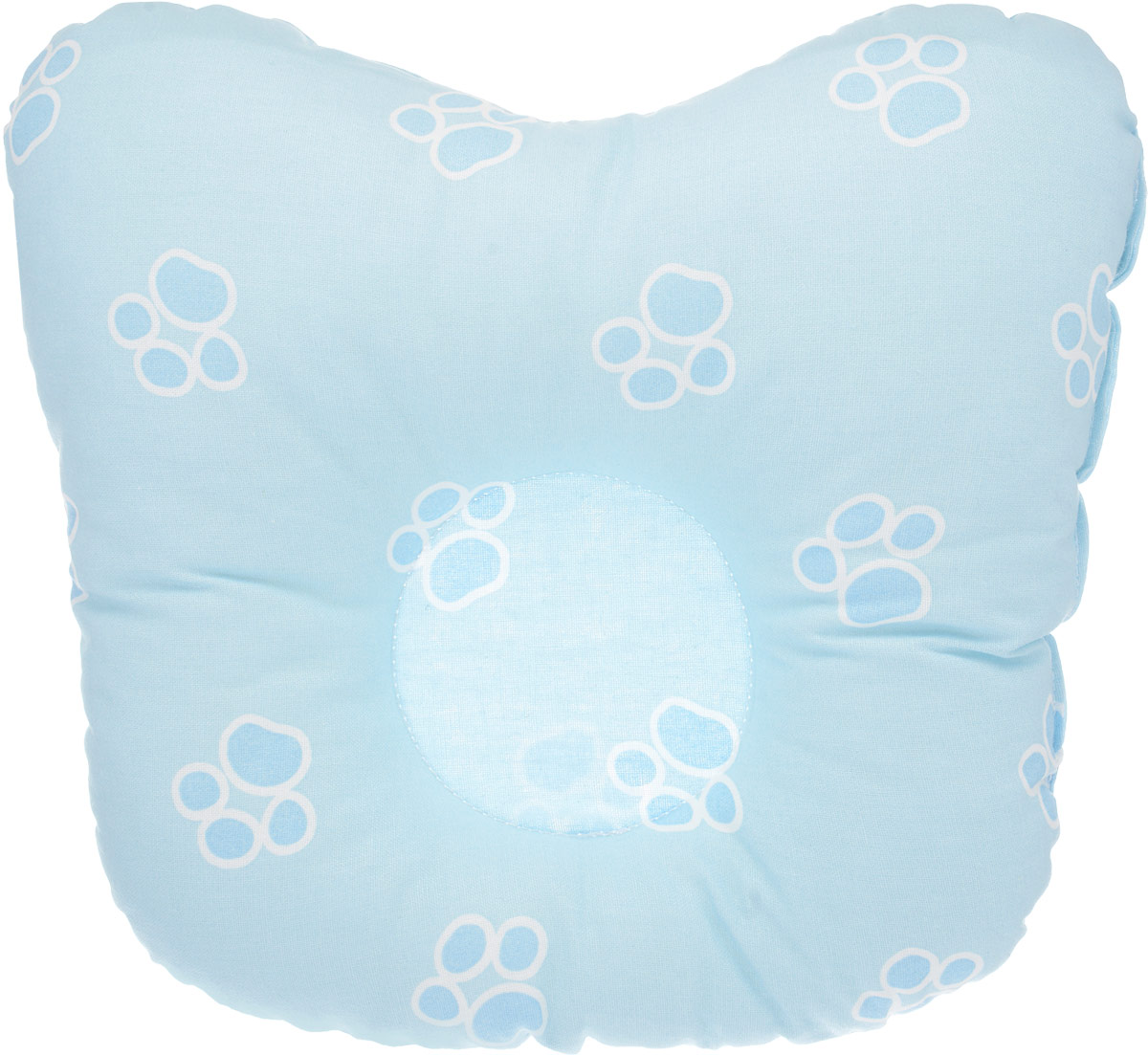 Сонный гномик Подушка анатомическая для младенцев Лапки цвет голубой 27 х 20 см68/4/5Анатомическая подушка для младенцев Сонный гномик Лапки изготовлена из бязи - 100% хлопка. Наполнитель - синтепон в гранулах (100% полиэстер).Подушка компактна и удобна для пеленания малыша и кормления на руках, она также незаменима для сна ребенка в кроватке и комфортна для использования в коляске на прогулке. Углубление в подушке фиксирует правильное положение головы ребенка.Подушка помогает правильному формированию шейного отдела позвоночника и обеспечивает младенцу крепкий и здоровый сон. Подушка оформлена принтом с изображением маленьких лапок.