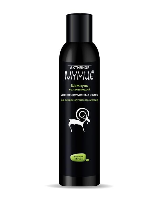 Активное Мумие Шампунь увлажняющий для поврежденных волос, 330 мл4605370011678За счет активного ингредиента Мумиё шампуни благоприятно воздействует на кровообращение и нормализует уровень меди и цинка, без которых невозможно оздоровить волосы. Полезные вещества, содержащиеся в этом продукте природы, отлично проникают в кожу головы, происходит стимуляция роста волос, и такой процесс своим действием усиливает каждый локон.