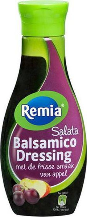 Remia Salata Balsamic Dressing соус бальзамический, 250 мл0120710Придаст терпкий вкус свежим и вареным овощам, мягким сырам, жареному мясу, пицце. Бальзамический соус традиционно используется для декорирования блюд, позволяя создавать настоящие произведения кулинарного искусства.