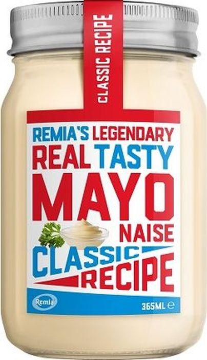 Remia майонез классический, 365 мл0120710Классический майонез, сливочный и насыщенный вкус. Для приготовления салатов, бутербродов, гамбургеров и жареной картошки.