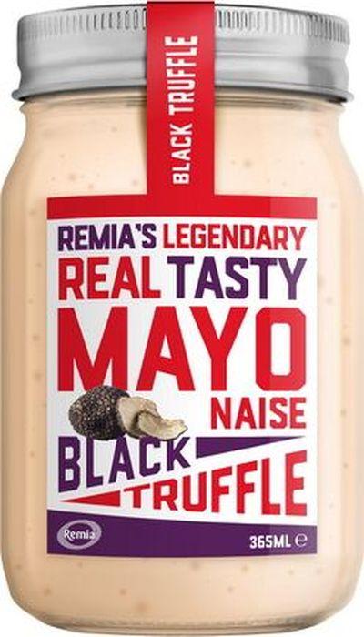 Remia майонез с черным трюфелем, 365 мл10.43.03Сливочный майонез с Дижонской горчицей, с ароматом трюфеля и черного перца.