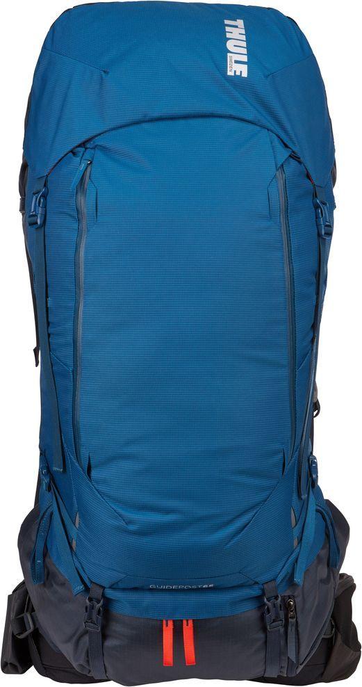 Рюкзак туристический мужской Thule Guidepost, цвет: синий, 65 л222201Удобный рюкзак для двухдневных/недельных путешествий Thule Guidepost отличается настраиваемой системой крепления TransHub, обеспечивающей идеальную посадку, поворачивающимся набедренным ремнем, который позволяет рюкзаку повторять ваши движения, и крышкой, способной трансформироваться в дополнительный рюкзак, который поможет вам покорить любую вершину.Особенности:- Лямки с шагом 15 см легко регулируются для идеальной посадки рюкзака, а наплечные ремни QuickFit имеют три варианта длины. - Система крепления Transhub и усиленный поясной ремень помогают максимально перенести вес рюкзака на бедра, обеспечивая более удобную посадку. - За счет поворотного поясного ремня рюкзак повторяет ваши движения, обеспечивая более естественную ходьбу. - Съемный верхний клапан трансформируется в отдельный просторный рюкзак объемом 28 л. - Съемный всепогодный сворачивающийся карман VersaClick защищает снаряжение от непогоды. - Регулируемый поясной ремень совместим со взаимозаменяемыми аксессуарами VersaClick (приобретаются отдельно). - Яркий съемный дождевой чехол поможет сохранить вещи сухими во время проливного дождя. - Разместив внешний аккумулятор в отделении PowerPocket, можно на ходу заряжать мобильное устройство в кармане поясного ремня. - Удобный доступ к содержимому рюкзака благодаря большой J-образной застежке на молнии на боковой панели. - Дышащая задняя панель способствует лучшей циркуляции воздуха, а мягкая опора обеспечивает поддержку в главных точках соприкосновения.