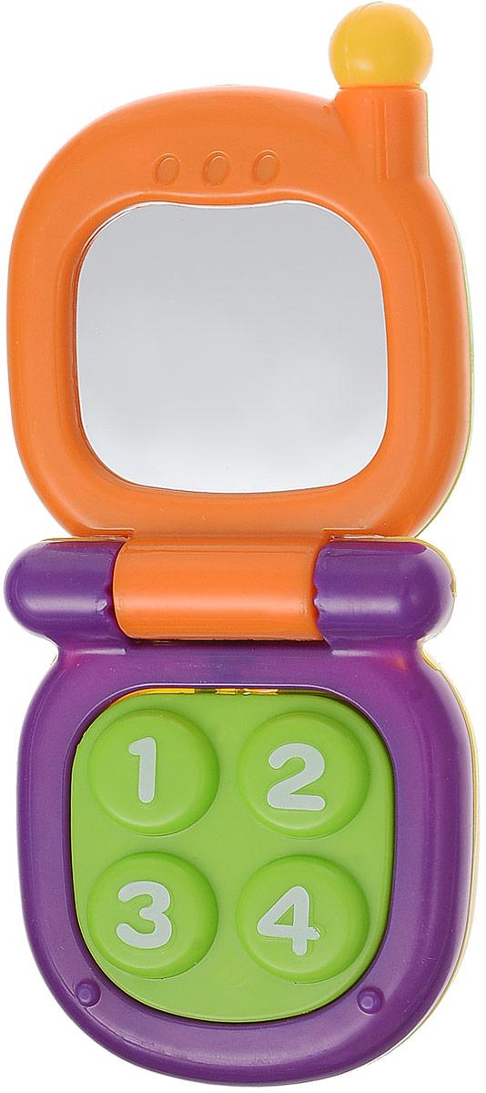 Mioshi Развивающая игрушка Телефон с зеркальцем цвет оранжевый фиолетовый