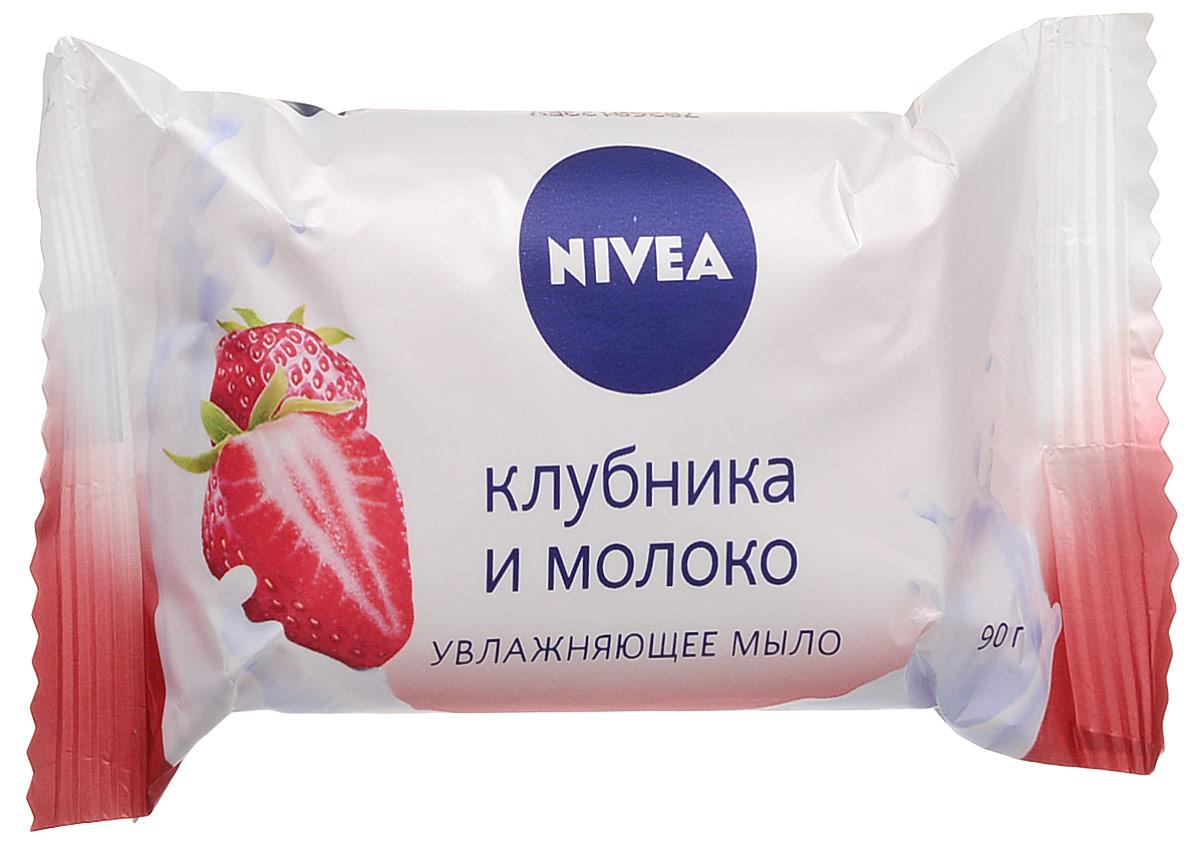 NIVEA Мыло-уходКлубника и молоко90 грMP59.3D•Мыло КЛУБНИКА И МОЛОКО от NIVEA с приятным ароматом свежей клубники и ценными молочными протеинами нежно очищает кожу, делая ее ощутимо более гладкой, и придает ей тонкий аромат.