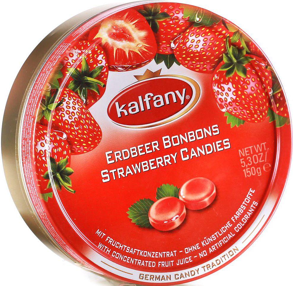 Kalfany Клубника леденцы, 150 г0120710Фруктовые леденцы с клубничным вкусом. С концентрированным фруктовым соком.