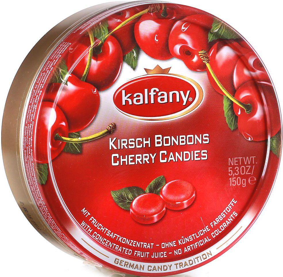 Kalfany Вишня леденцы, 150 г4640000272265Фруктовые леденцы с вишневым вкусом. С концентрированным фруктовым соком.