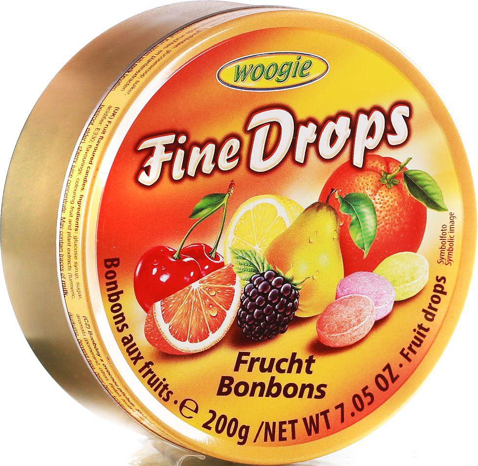 Woogie Фруктовое ассорти леденцы, 200 г6.4.13Леденцы со вкусом апельсина, абрикоса, вишни, малины, смородины, лимона и клубники.