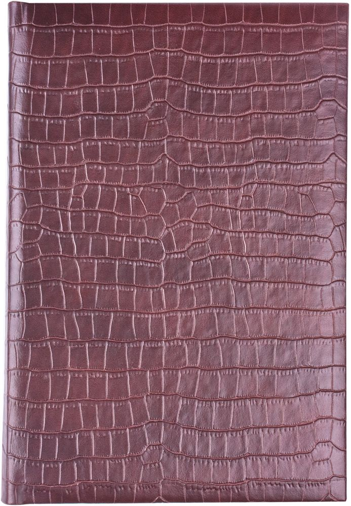 Brauberg Ежедневник Comodo 160 листов цвет коричневый формат A572523WDВеликолепная возможность прикоснуться к легендарной рептилии на расстоянии. Обложка, стилизованная под кожу крокодила, тонированная бумага и позолоченный боковой срез - сочетание элегантности и роскоши.