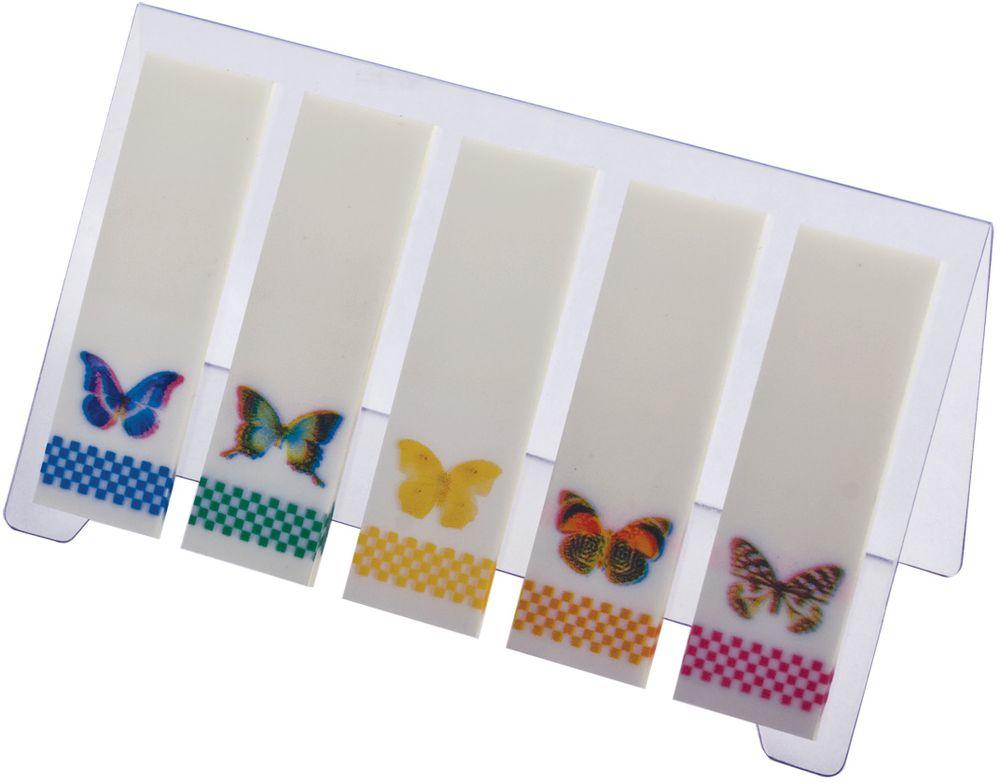 Brauberg Закладка Бабочки с липким слоем 1,5 х 4,8 см 5 шт по 20 листов -  Канцтовары и организация рабочего места