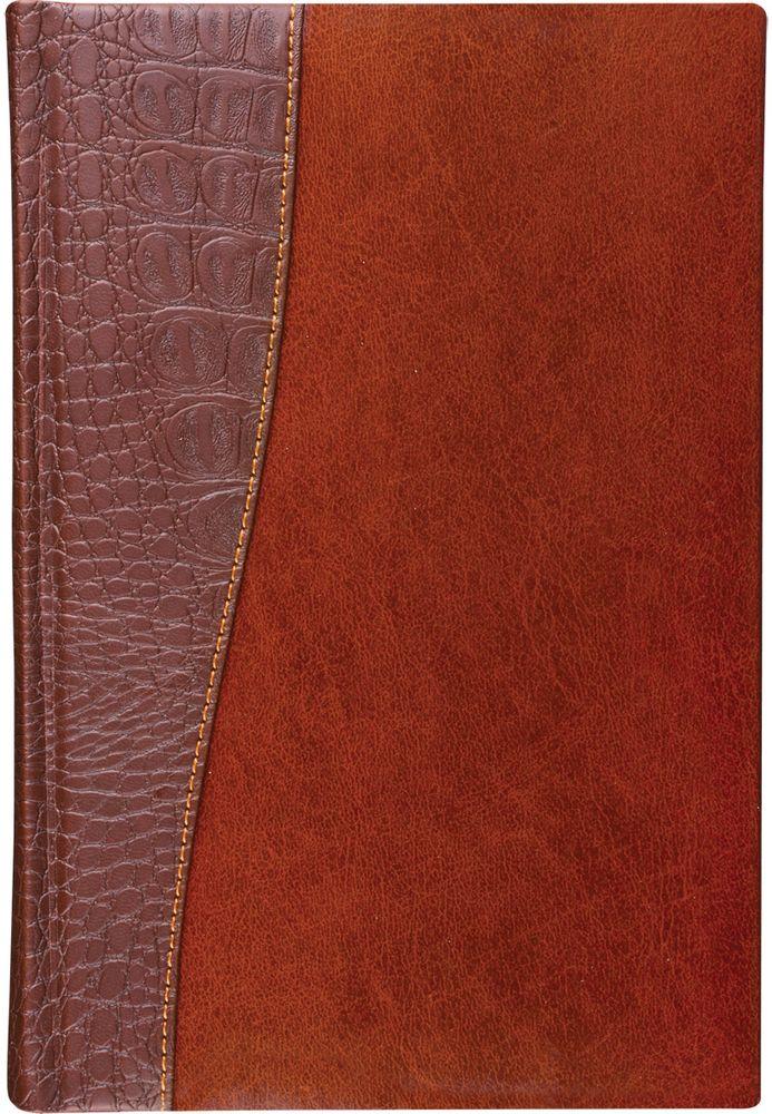 Brauberg Ежедневник Cayman 160 листов цвет коричневый формат A572523WDЕжедневник обладает составляющими премиум класса: обложка - изысканная комбинация гладкой глянцевой кожи и материала, имитирующего кожу крокодила, внутренний блок - тонированная бумага с позолоченным боковым срезом.