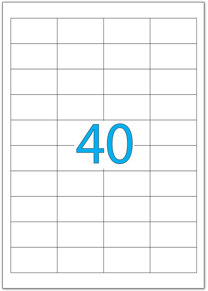 Brauberg Этикетка самоклеящаяся 2,5 х 4,8 см 40 шт х 50 листов -  Бумага для заметок, стикеры, закладки