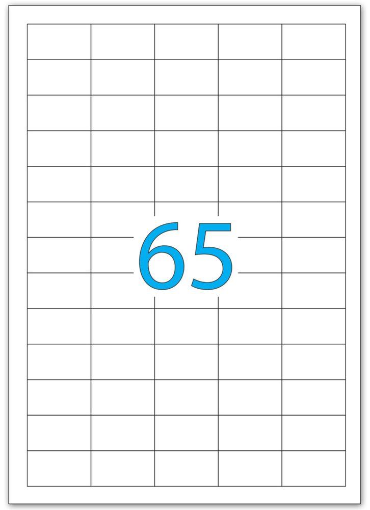 Brauberg Этикетка самоклеящаяся 2,1 х 3,8 см 65 шт х 50 листов -  Бумага для заметок, стикеры, закладки