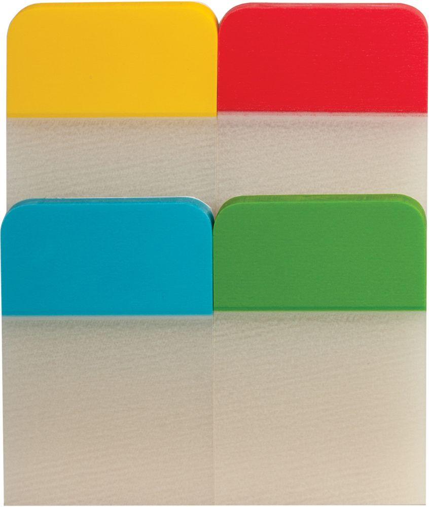 Brauberg Закладка-выделитель листов 2,5 х 3,8 см 4 шт по 20 листов -  Канцтовары и организация рабочего места
