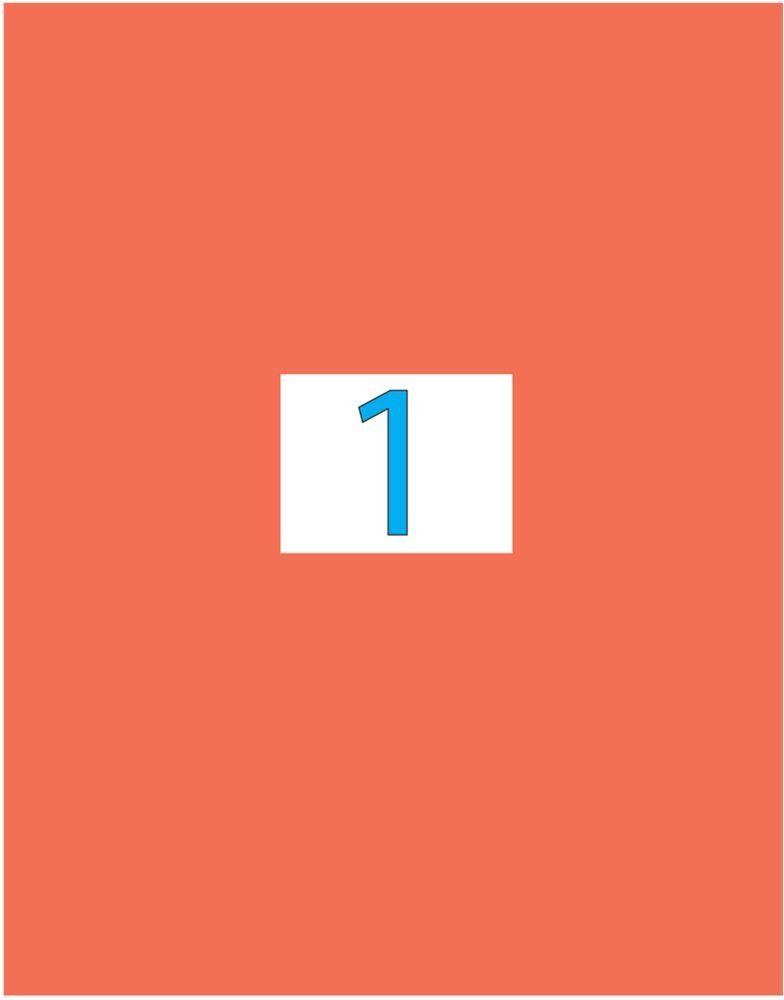 Brauberg Этикетка самоклеящаяся 21 х 29,7 см цвет красный 50 листов -  Бумага для заметок, стикеры, закладки