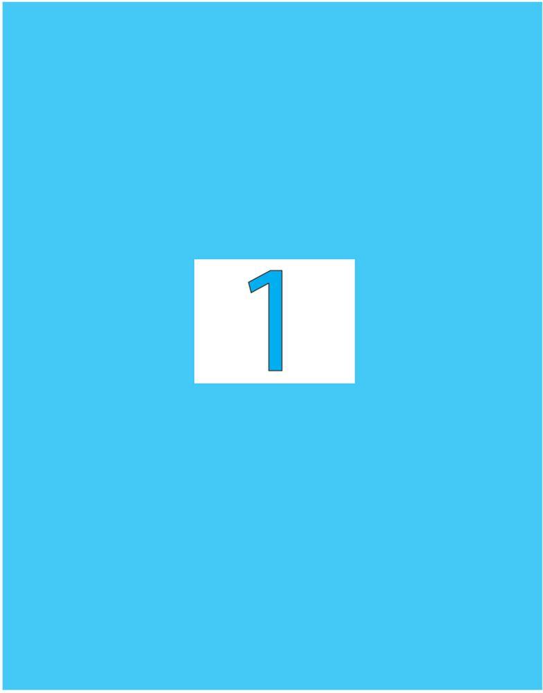 Brauberg Этикетка самоклеящаяся 21 х 29,7 см цвет голубой 50 листов -  Бумага для заметок, стикеры, закладки
