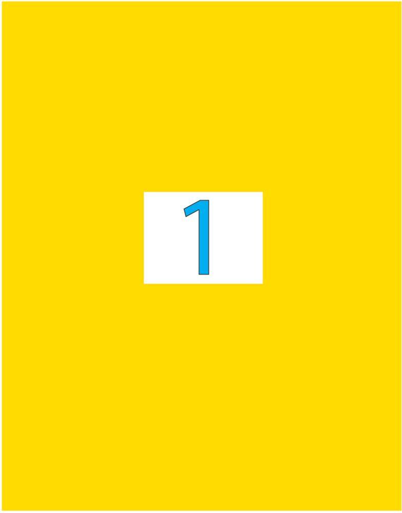 Brauberg Этикетка самоклеящаяся 21 х 29,7 см цвет желтый 50 листов -  Бумага для заметок, стикеры, закладки