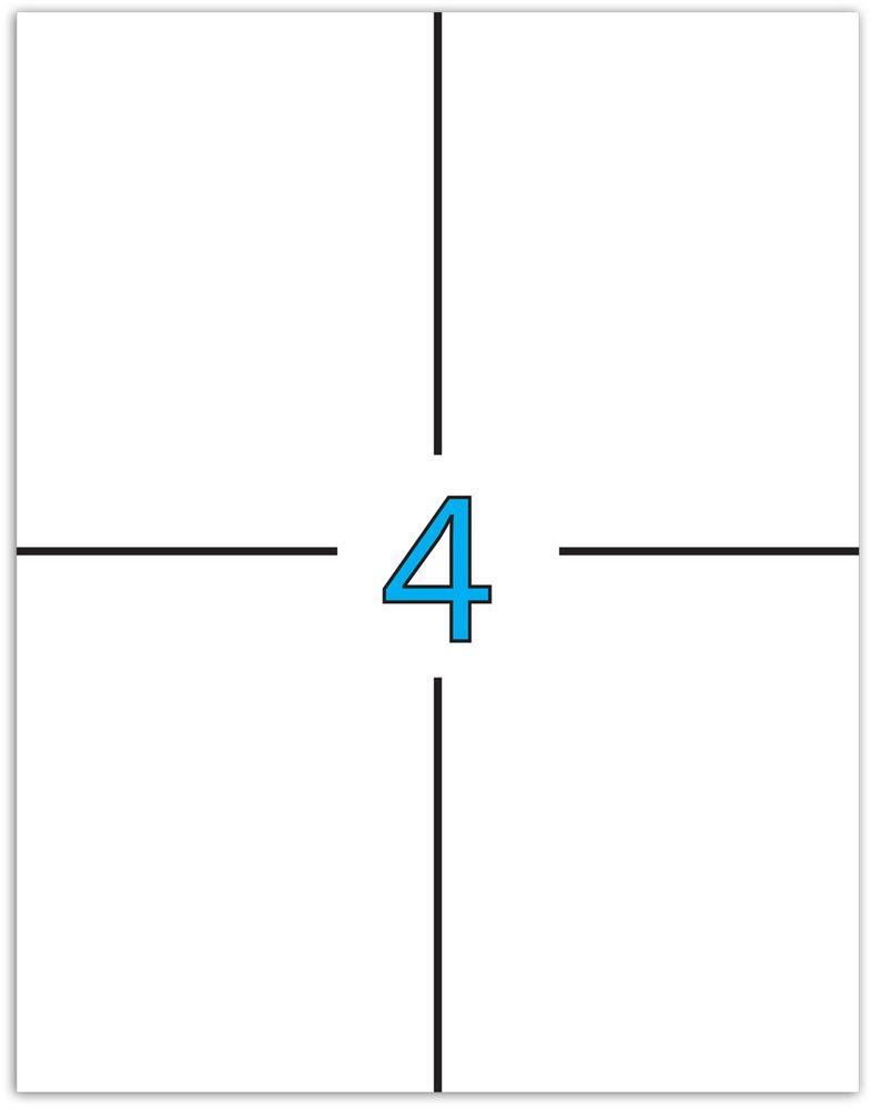 Brauberg Этикетка самоклеящаяся 10,5 х 14,8 см 4 шт х 50 листов -  Бумага для заметок, стикеры, закладки