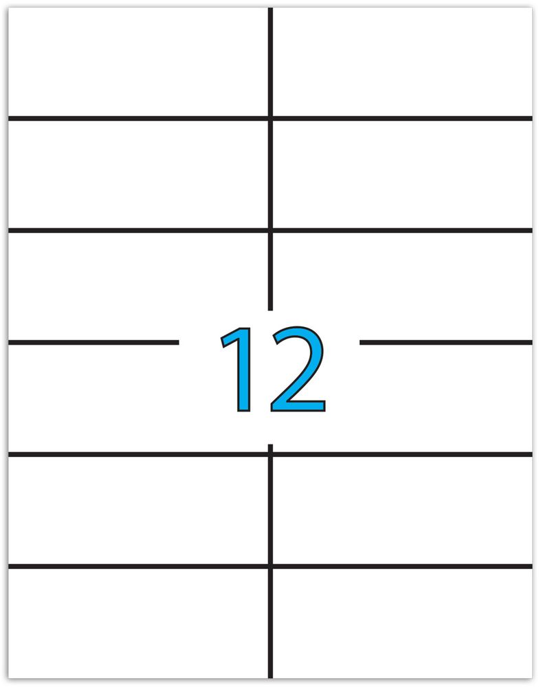 Brauberg Этикетка самоклеящаяся 4,8 х 10,5 см 12 шт х 50 листов -  Бумага для заметок, стикеры, закладки