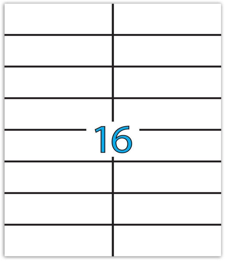 Brauberg Этикетка самоклеящаяся 3,7 х 10,5 см 16 шт х 50 листов -  Бумага для заметок, стикеры, закладки