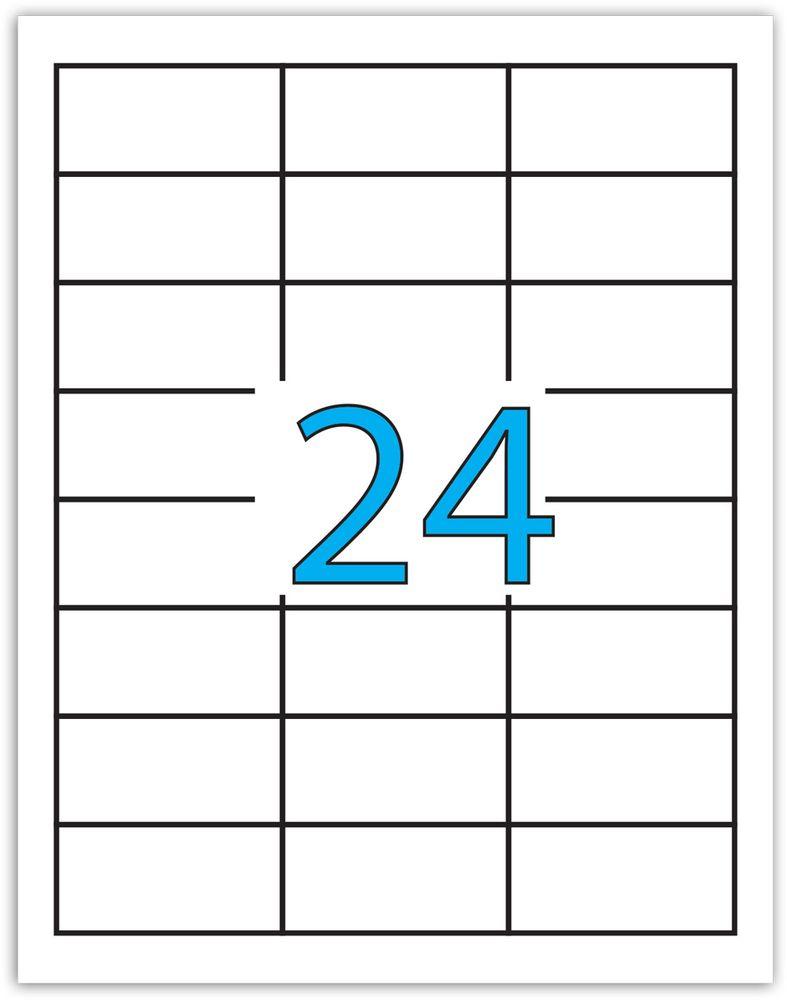 Brauberg Этикетка самоклеящаяся 3,3 х 6,4 см 24 шт х 50 листов -  Бумага для заметок, стикеры, закладки