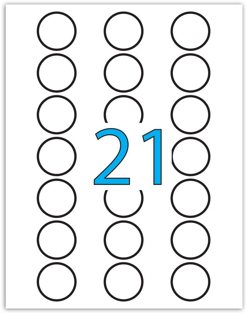 Brauberg Этикетка самоклеящаяся диаметр 4 см 21 шт х 50 листов -  Бумага для заметок, стикеры, закладки