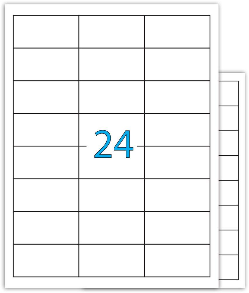 Brauberg Этикетка самоклеящаяся 3,7 х 7 см 24 шт х 100 листов -  Бумага для заметок, стикеры, закладки