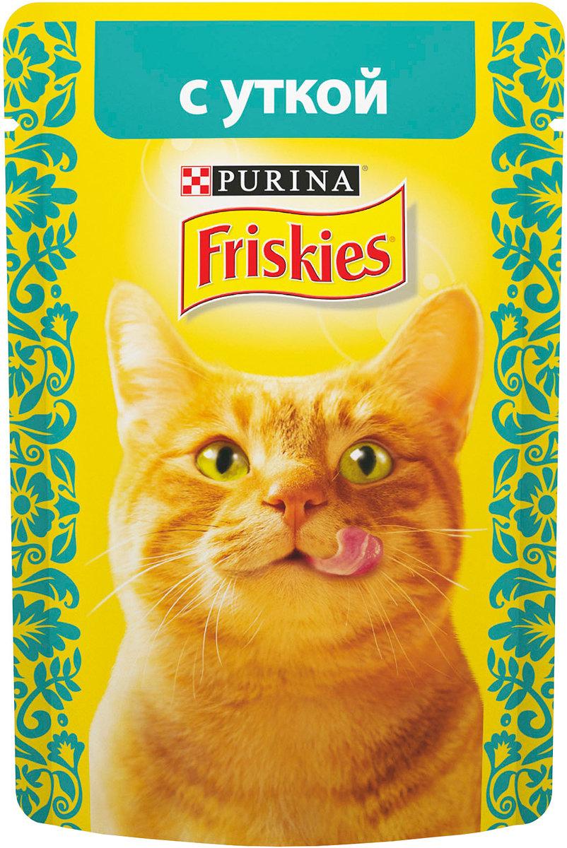 Консервы для кошек Friskies, с уткой, 85 г0120710Консервы для кошек Friskies приготовлены из тщательно отобранных ингредиентов для того, чтобы ваша кошка получала только лучшее. Консервы содержат качественный белок, витамины, минералы и другие вкусные и полезные компоненты. Такой корм является полнорационным и сбалансированным питанием на каждый день. Корм Friskies специально приготовлен, чтобы обеспечивать вашу кошку основными питательными веществами для поддержания ее здоровья и счастья каждый день. Состав: мясо и продукты переработки мяса (из которых утки 4%), злаки, минеральные вещества, сахара, витамины. Пищевая ценность: влага 84%, белок 6,5%, жир 2,5%, сырая зола 2%, сырая клетчатка 0,1%, линолевая кислота (омега 6 жирные кислоты) 0,4%.Добавки: витамин А 620 МЕ/кг, витамин D3 90 МЕ/кг, железо 7,2 мг/кг, йод 0,18 мг/кг, медь 0,6 мг/кг, марганец 1,4 мг/кг, цинк 13 мг/кг, таурин 390 мг/кг. Товар сертифицирован.