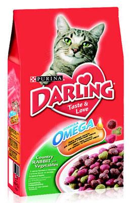 Корм сухой Darling для кошек, с кроликом и овощами, 2 кг12047941Новый корм для кошек Darling с омега жирными кислотами обеспечивает превосходное качество питания вашей кошки и помогает поддерживать здоровую, блестящую и приятную на ощупь шерсть вашего питомца.Состав: злаки и продукты переработки злаков, продукты переработки мяса и мясных субпродуктов (минимум 4% мясо кролика), животный жир, соевая мука, вкусоароматическая кормовая добавка, продукты переработки овощей (минимум 0,5%), минеральные вещества, регулятор кислотности, антиокислитель, красители, консерванты. Анализ: сырой белок 27,0 г, влажность 8,0 г, сырой жир 7,0 г, сырая зола 7,0 г, сырая клетчатка 2,5 г, кальция 1,4 г, медь 1,7 мг, фосфор 1,4 г, железо 17 мг, калий 0,8 г, марганец 4,0 мг, натрий 0,2 г, цинк 18 мг, магний 0,17 г, селен 32 мкг, линоленовая кислота 0,2 г, линолевая кислота 2,3 г, витамин А 850 МЕ, витамин D 85 МЕ, витамин Е 7,5 мг, витамины группы В 170 мг. Товар сертифицирован.