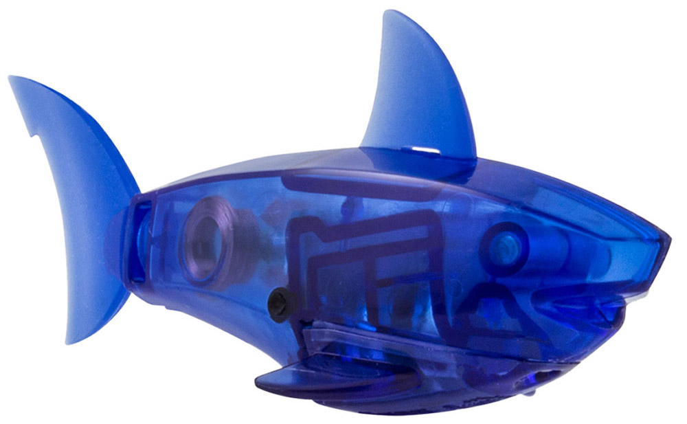Hexbug Микро-робот рыбка Aquabot Shark цвет синий 47pcs per set classic iq metal wire puzzle mind educational ring puzzles game for adults children