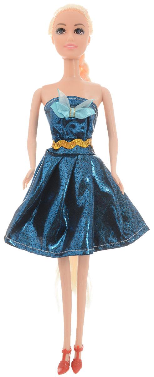 Junfa Toys Кукла Anita Fashionistas цвет платья синий металлик junfa toys автовоз с экскаватором и самосвалом цвет синий