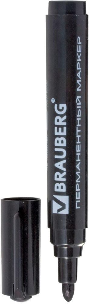 Brauberg Маркер перманентный Classic цвет черный150300Перманентный маркер Brauberg Classic предназначен для письма на любой поверхности.Заправлен водостойкими чернилами.Фетровый наконечник круглой формы характеризуется повышенной износостойкостью.Ширина линии письма - 3 мм.