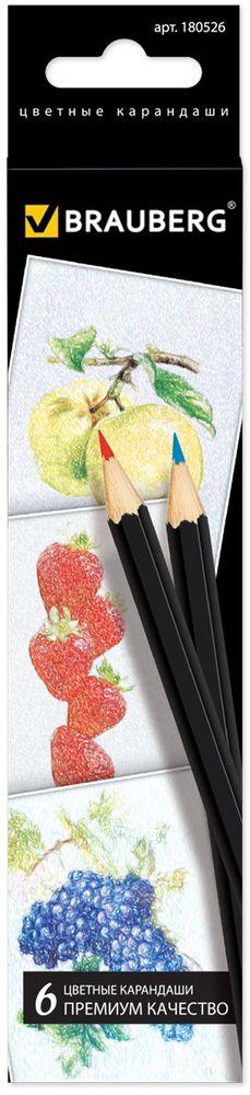 Brauberg Набор цветных карандашей Artist Line 6 цветов2010440В набор входят 6 цветных карандашей. Снабжены грифелем, изготовленным по специальной рецептуре, что обеспечивает мягкость письма и насыщенность цветовой штриховки. Высокосортная древесина и качество исполнения гарантируют легкую заточку.6 цветов. Диаметр грифеля - 3 мм. Высокосортная древесина. Шестигранный корпус. Легко затачиваются. Картонная упаковка с европодвесом.