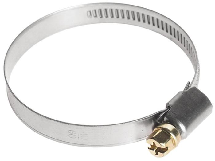 Хомут червячный JTC, 40-60 мм. JTC-ZN60K100Хомут червячный JTC выполнен из нержавеющей стали. Особая конструкция хомута позволяет выставлять различные диаметры с помощью стяжного винта. Увеличенная площадь рабочей поверхности болта позволяет сильнее затягивать хомут, делая крепление материалов более надежным. Обладает высоким сопротивлением скручиванию (60 кг/см2 для ленты шириной 9 мм, 80 кг/см2 для ленты шириной 12 мм) и высокой прочностью. Специальная кромка не оставляет заусениц и не повреждает поверхность шланга.Диапазон применения: 40-60 мм.Ширина ленты: 9 мм.Толщина ленты: 0,6 мм.