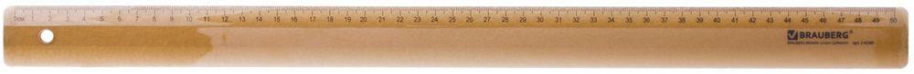 Brauberg Линейка 50 см86116Линейка Brauberg прозрачная, тонированная из прочного пластика. Имеет безопасные закруглённые углы и четкую контрастную шкалу делений. Предназначена для чертежных работ.Шкала - 50 см.Фаска для работы с пером. Толщина пластика - 3 мм.