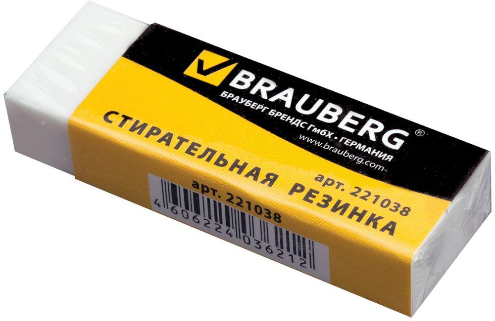Brauberg Ластик Office 20 прямоугольный цвет белый221038Офисная стирательная резинка Brauberg, предназначенная для стирания карандаша. Не повреждает поверхность бумаги. Обеспечивает лёгкое и чистое стирание без повреждения поверхности бумаги и без образования бумажной пыли.