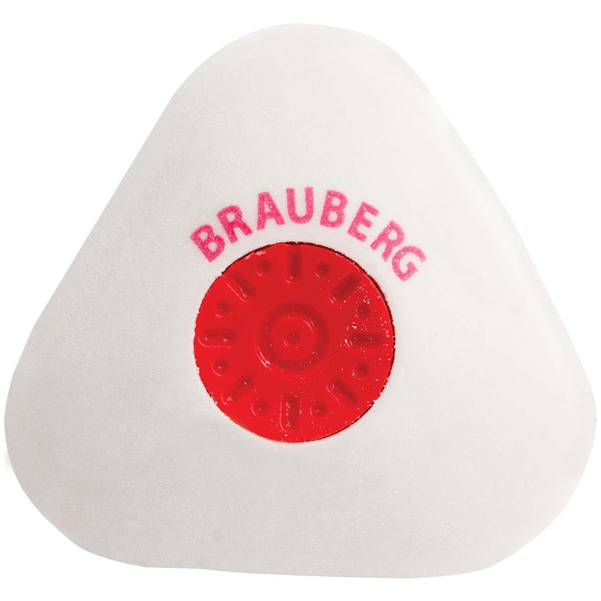 Brauberg Ластик Energy треугольный цвет белый222473Стирательная резинка Brauberg для удаления надписей, сделанных карандашом. Для удобства использования на корпусе ластика имеется пластиковая центровка. Обеспечивает лёгкое и чистое стирание без повреждения поверхности бумаги и без образования бумажной пыли.