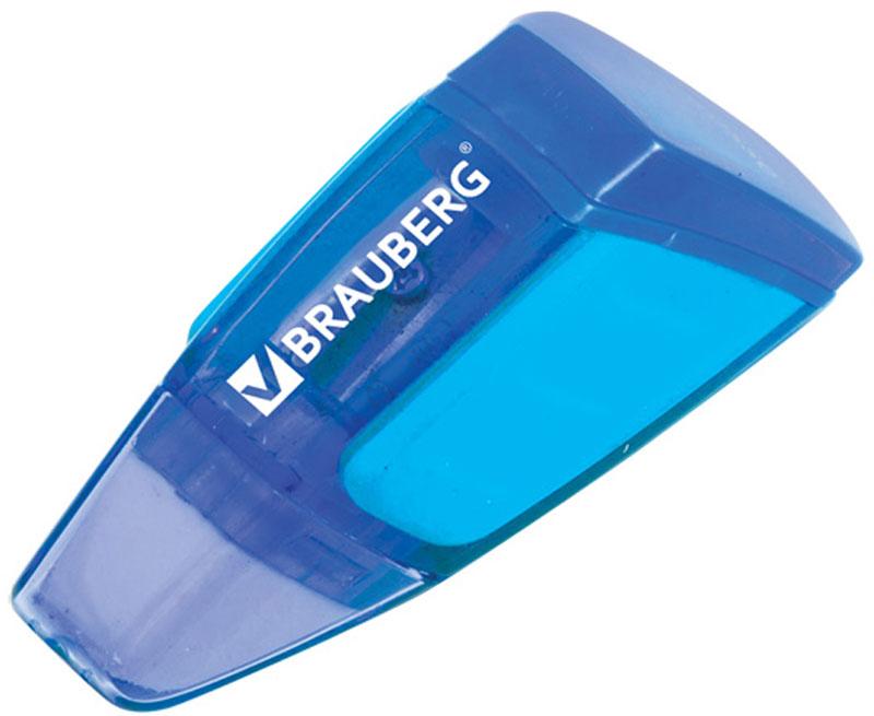 Brauberg Точилка Der Grosse с контейнером72523WDТочилка 2 в 1: качественное стальное лезвие обеспечивает отличное затачивание карандашей, а стирательная резинка - чистое стирание без повреждения поверхности бумаги. Цветной корпус изделия имеет резиновые вставки для защиты от скольжения.•Пластиковый корпус эргономичной формы •Контейнер для сбора стружки. •Цвет - ассорти. •Упаковка - блистер. •Размер (ВхШхГ) - 6,8х3,4х2,4 см. •Резиновые вставки для защиты от скольжения. •Поставляется в нескольких вариантах цвета (без возможности выбора).Уважаемые клиенты! Обращаем ваше внимание на цветовой ассортимент товара. Поставка осуществляется в зависимости от наличия на складе.