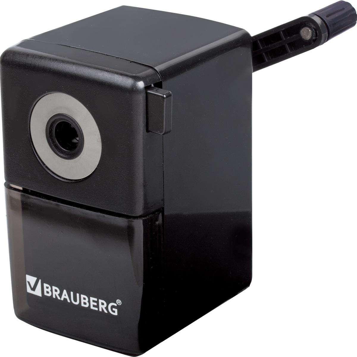 Brauberg Точилка BlackJack30FAТочилка BraubergBlackJack, качественный металлический механизм обеспечивает лёгкое, равномерное затачивание карандашей и долговечность работы точилки. Специальный зажим для крепления к столу обеспечивает дополнительное удобство в использовании.