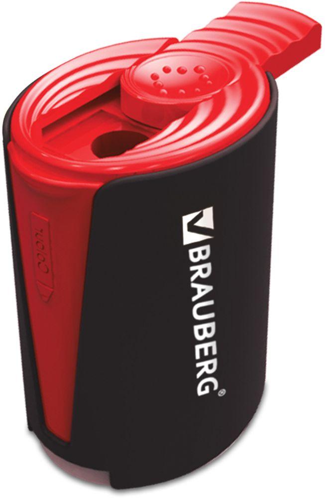 Brauberg Точилка двойная DeltaFS-36052Для чернографитных и цветных карандашей. Качественное стальное лезвие обеспечивает лёгкое равномерное затачивание. Корпус изготовлен из черного пластика. Отверстия точилки защищены сдвигающимися крышками и окрашены в серый и красный цвета.•2 отверстия для чернографитных и цветных карандашей. •Контейнер для сбора стружки. •Пластиковый корпус. •Цвет корпуса - черный, цвет крышек - серый и красный. •Размер - 5,5х4,2х3,2 см. •Упаковка - дисплей.Уважаемые клиенты! Обращаем ваше внимание на цветовой ассортимент товара. Поставка осуществляется в зависимости от наличия на складе.