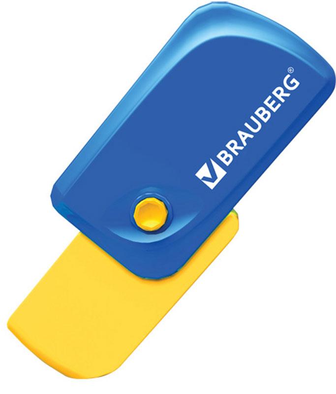 Brauberg Ластик Delta цвет синий желтый1029969Эксклюзивная стирательная резинка Brauberg в пластиковом корпусе с резиновой кнопкой и выкидным механизмом. Резинка обеспечивает лёгкое и чистое стирание без повреждения поверхности бумаги и без образования бумажной пыли. Выкидной механизм. Отверстие для ношения на шнурке.