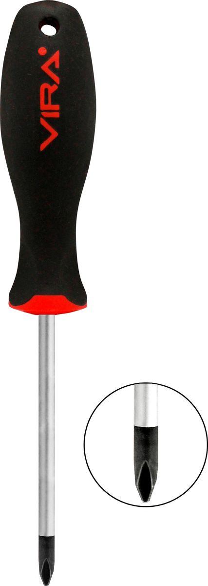 Отвертка Vira, крестовая, PH3 х 150 мм. 391117CA-3505Отвертка Vira с эргономичной двухкомпонентной ручкой предназначена для монтажа и демонтажа резьбовых соединений. Простота и удобство отвертки сочетается с высоким качеством и прочностью стержня. Она превосходно справляется с любыми нагрузками, прекрасно подойдет как для профессионального использования, так и для решения бытовых задач. Наконечник намагничен для того, чтобы облегчить работу с мелкими деталями. Инструмент выполнен в уникальном дизайне и обладает неповторимой формой, идеально подходящей для любого типа кисти. Эргономичная ручка не только удобно лежит в руке, но еще и обеспечивает высокий крутящий момент, а антискользящее покрытие помогает крепко удерживать инструмент в любых рабочих условиях.Рукоятка отвертки оснащена дополнительным отверстием, используемое для воротка в случае, если необходимо приложить дополнительные усилия.